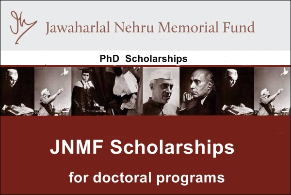 Jawaharlal Nehru Scholarship for Doctoral Research